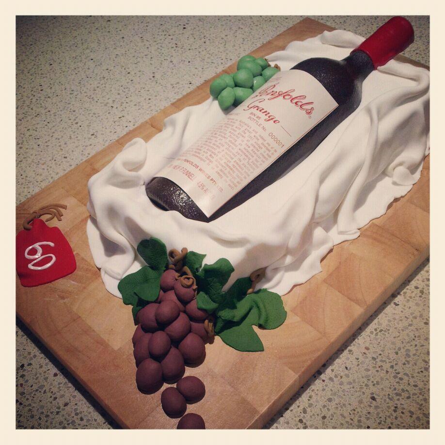 Cake Design Wine Bottle : 60th birthday wine bottle cake - Lola Pola Designs Food ...