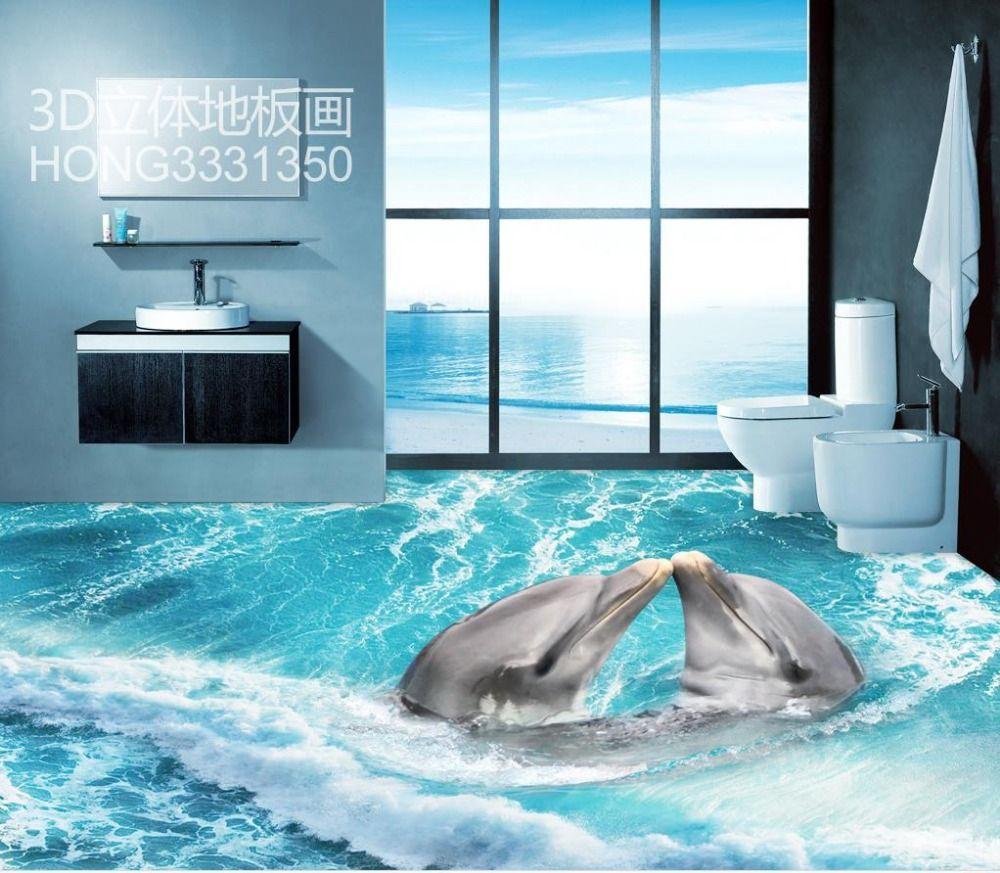 Lovely 3d Bodenfliesen 3d Strand PVC Wasserdichte Boden Kundenspezifisches Foto  Selbstklebende 3D Boden Zu Hause Dekoration( Pictures Gallery