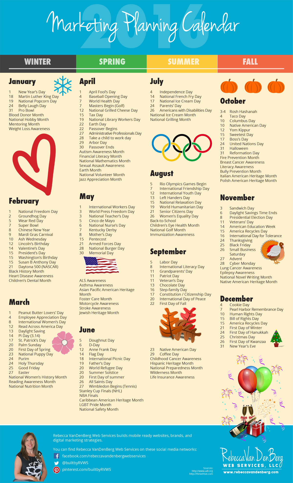 2016 Marketing Planning Calendar with Monthly Worksheets to Plan Your Blog 7150cae6c41