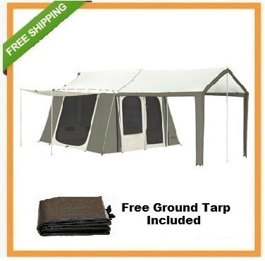 Kodiak Canvas Cabin Tent 6133 6 Person 9x12 With Deluxe Awning Canopy Kodiak Canvas Cabin Tent Awning Canopy