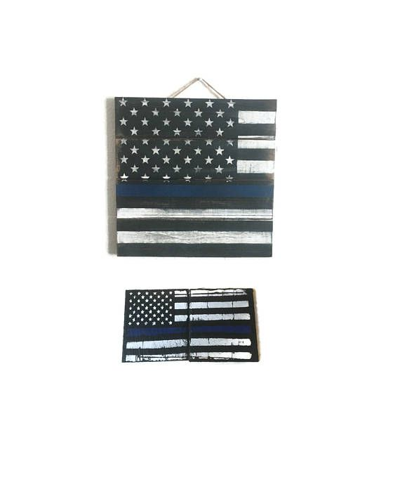 Thin Blue Line Decor Set Police Officer Gift Law Enforcement