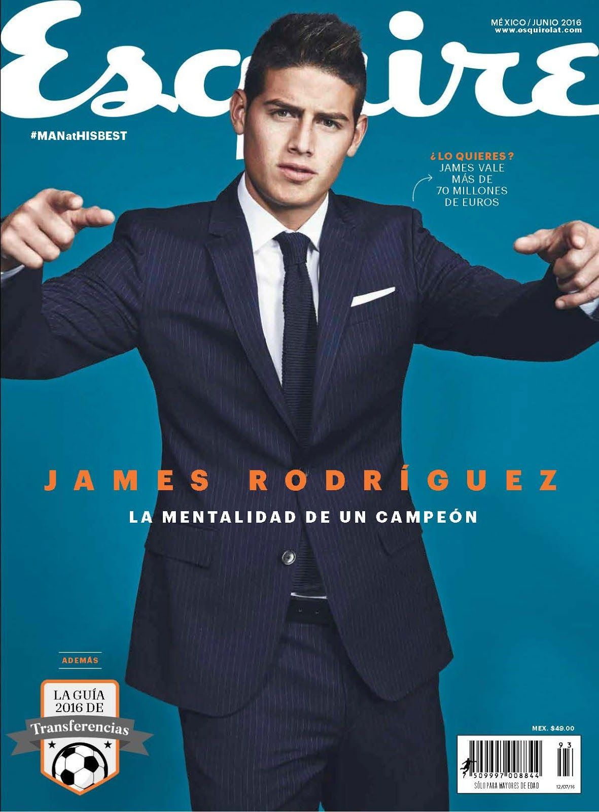 Male Fashion Trends James Rodriguez Para Esquire Mexico Junio 2016 Por John Russo