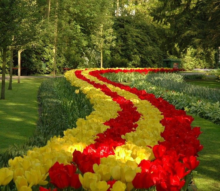 tulipanes-amarillos-rojos-ideas-bonitas-jardines-grandes.jpg (760 ...