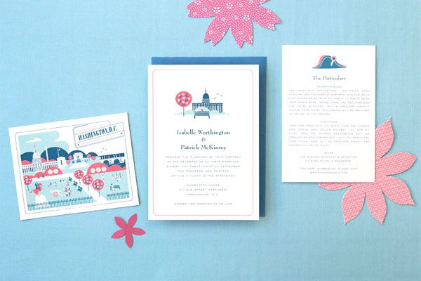 Washington D C Wedding Invitations Stationery