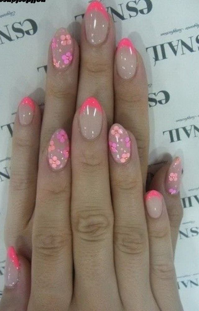 pretty flower nail designs trends 2015 | Nail Art and Nail-related ...