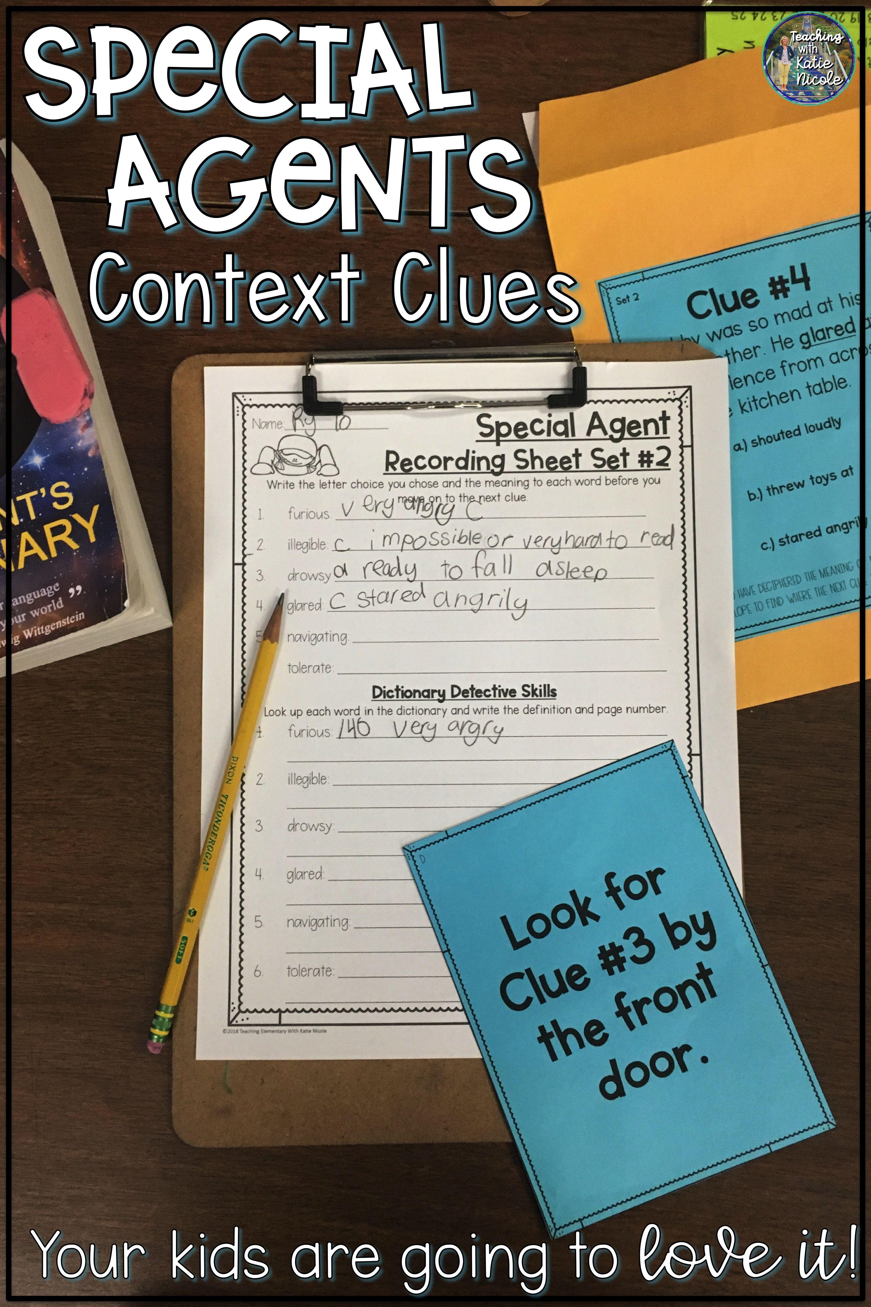 Special Agent Context Clues Activity