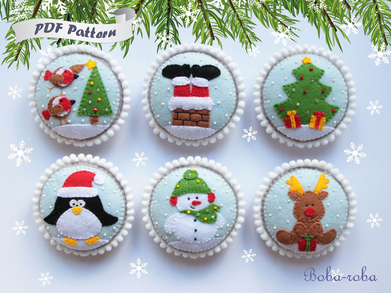 Felt Christmas Toys Pattern Christmas Pattern Felt Christmas Etsy Felt Christmas Decorations Christmas Toy Patterns Christmas Ornament Pattern