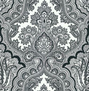 Echo Design 566 43974 Isla White Paisley Wallpaper