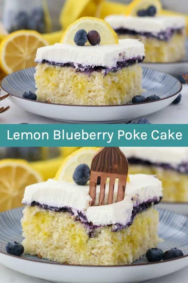 Lemon Blueberry Poke Cake Recipe Easy Pudding Cake Idea Recipe Poke Cake Easy Puddings Easy Cake Recipes