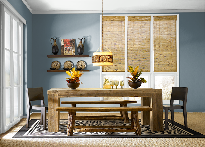 This is the project I created on Behr.com. I used these colors: SMOKEY BLUE(540F-5),