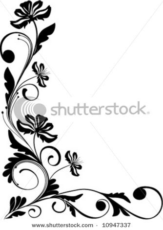 Best And Beautiful Black And White Floral Corner Borders And Pattern Designs Available For Free Feel F Floral Border Design Frame Border Design Corner Borders