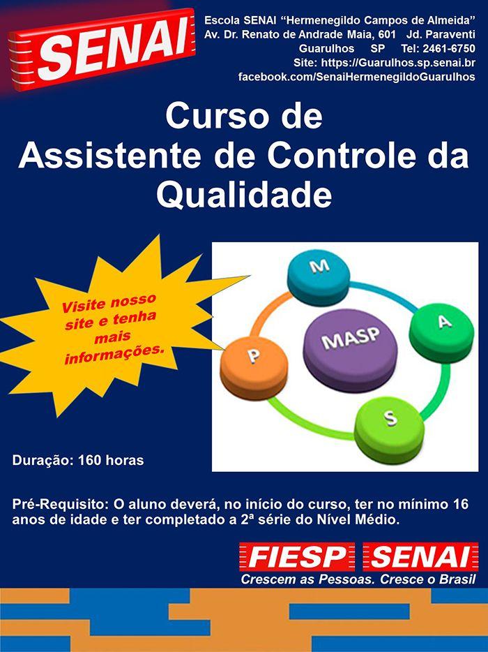 Curso De Assistente De Controle Da Qualidade Escola Senai