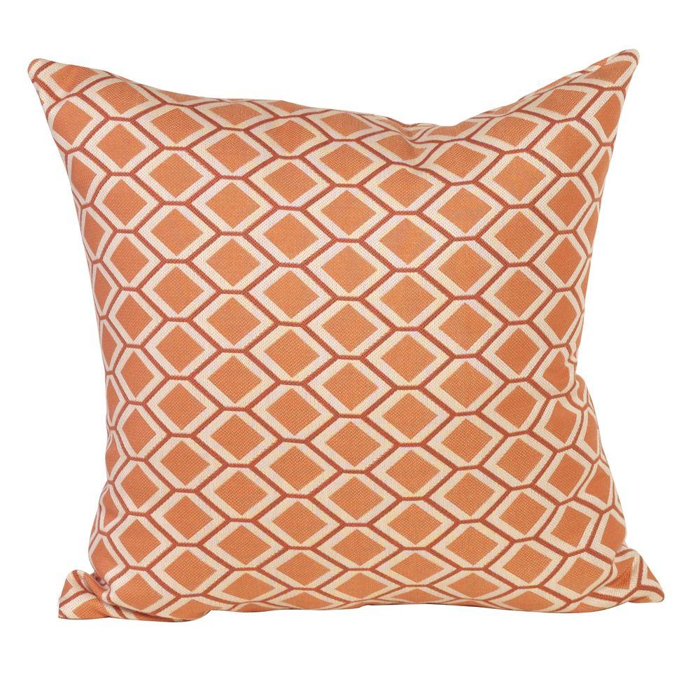 """Howard Elliott Geo Tangerine 20"""" x 20"""" Pillow"""