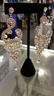 Chandelier Clear Drop Earrings