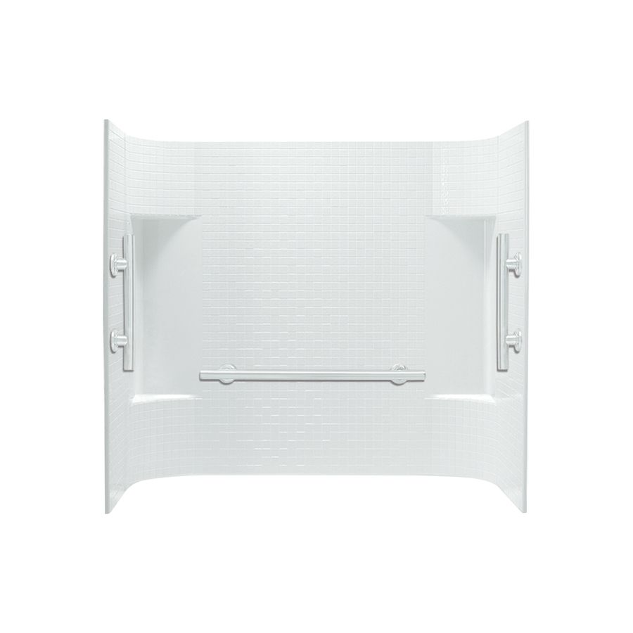 Sterling Accord White Vikrell Bathtub Wall Surround (Common: 60-In X ...