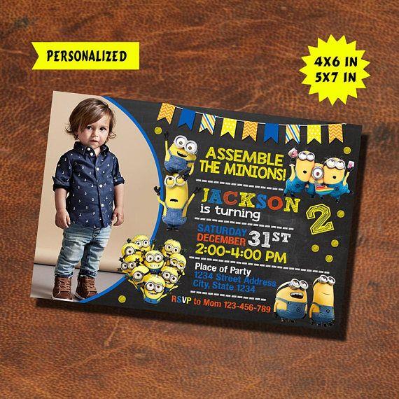 minions invitation minions birthday minions invite minions