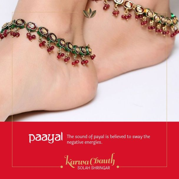 Significance of #SolahShringar: Payal or anklet is a
