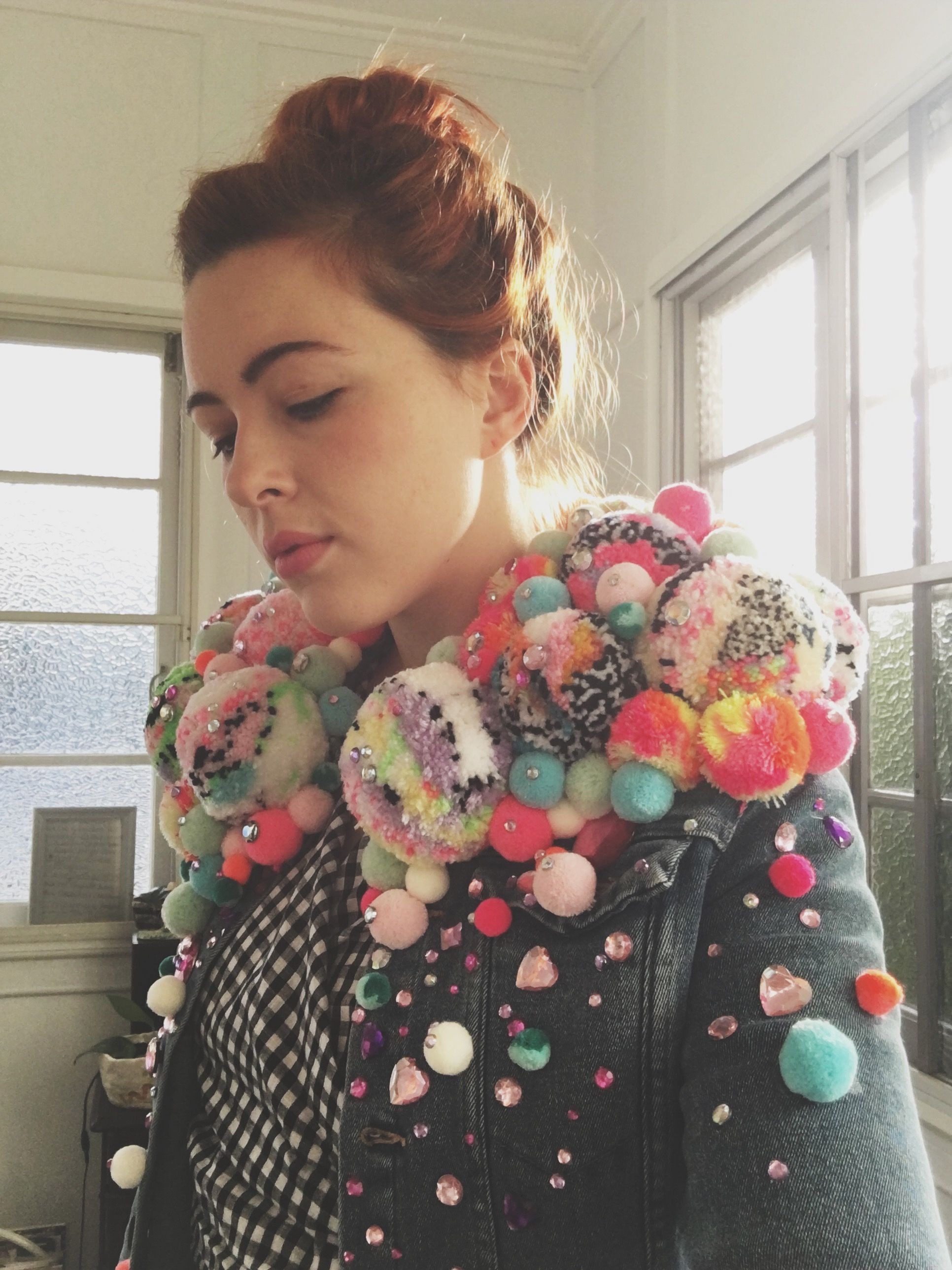 how to make a pom pom jacket