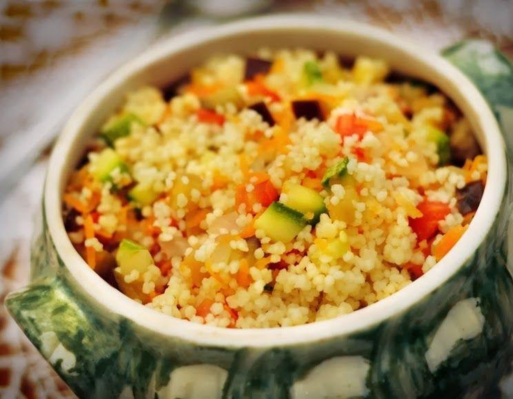 Cantinho Vegetariano: Couscous Marroquino com Berinjela e Abobrinha (vegana)