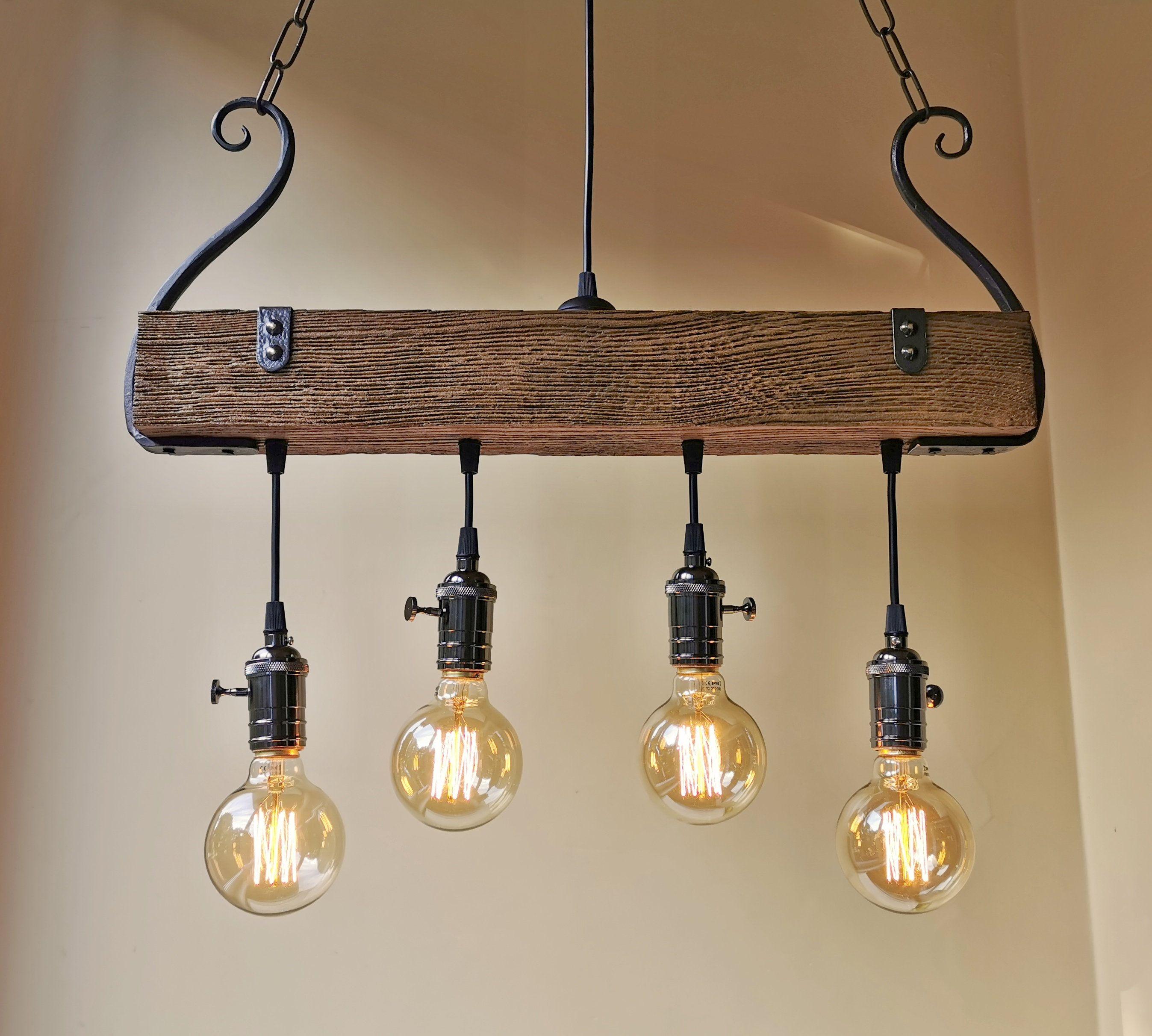 Rustic Lighting Wood Chandelier Oak Chandelier Rustic Light
