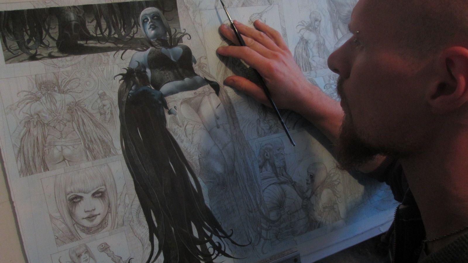 """Work in progress of """"Saria"""" volume 3 , Riccardo Federici on ArtStation at https://www.artstation.com/artwork/8ka56"""