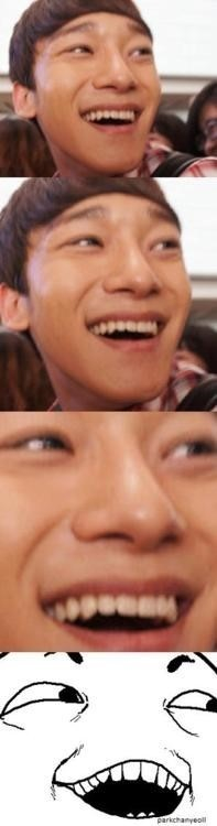 EXO's Chen... much similar to popular meme #Iseewhatyoudidthere