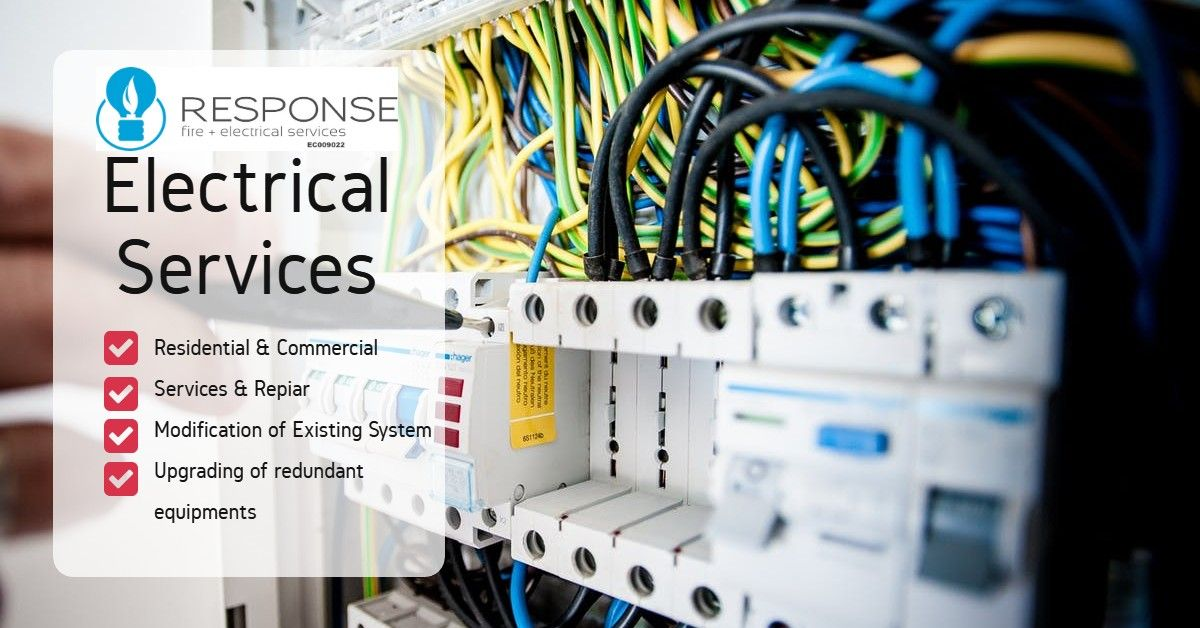 Best Residential & Commercial electricial services - Response Electrician | Residential  electrical, Electrical jobs, Electrician