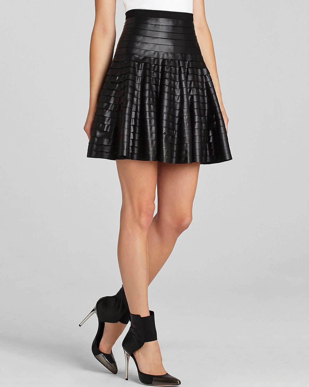 c301bd7f30d9 BCBGMAXAZRIA Skirt - Shanina Faux Leather Strip