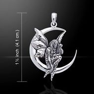 Fairy Moon Dream .925 Sterling Silver Pendant by Peter Stone