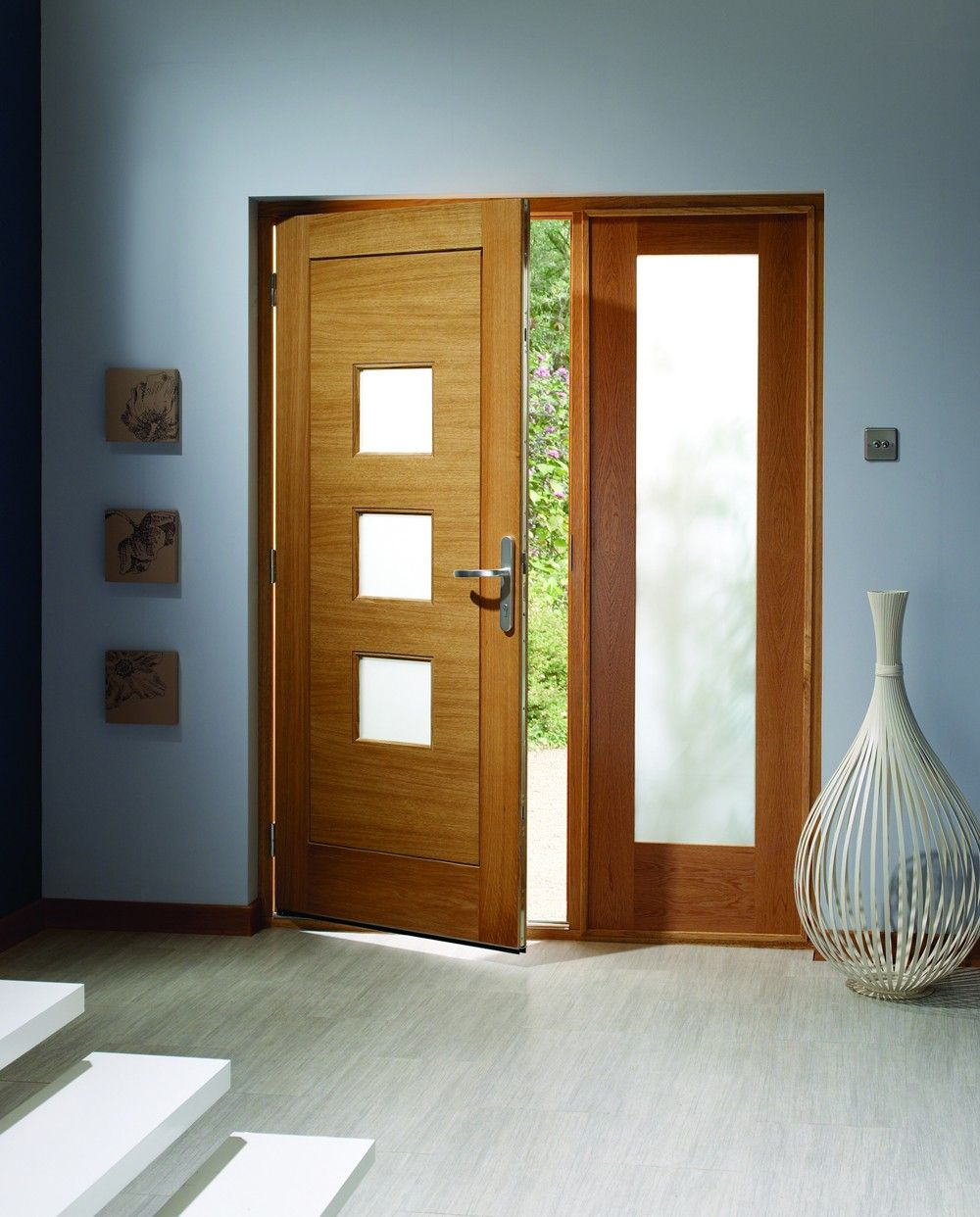 Fully Glazed External Timber Doors A Timber External Door With