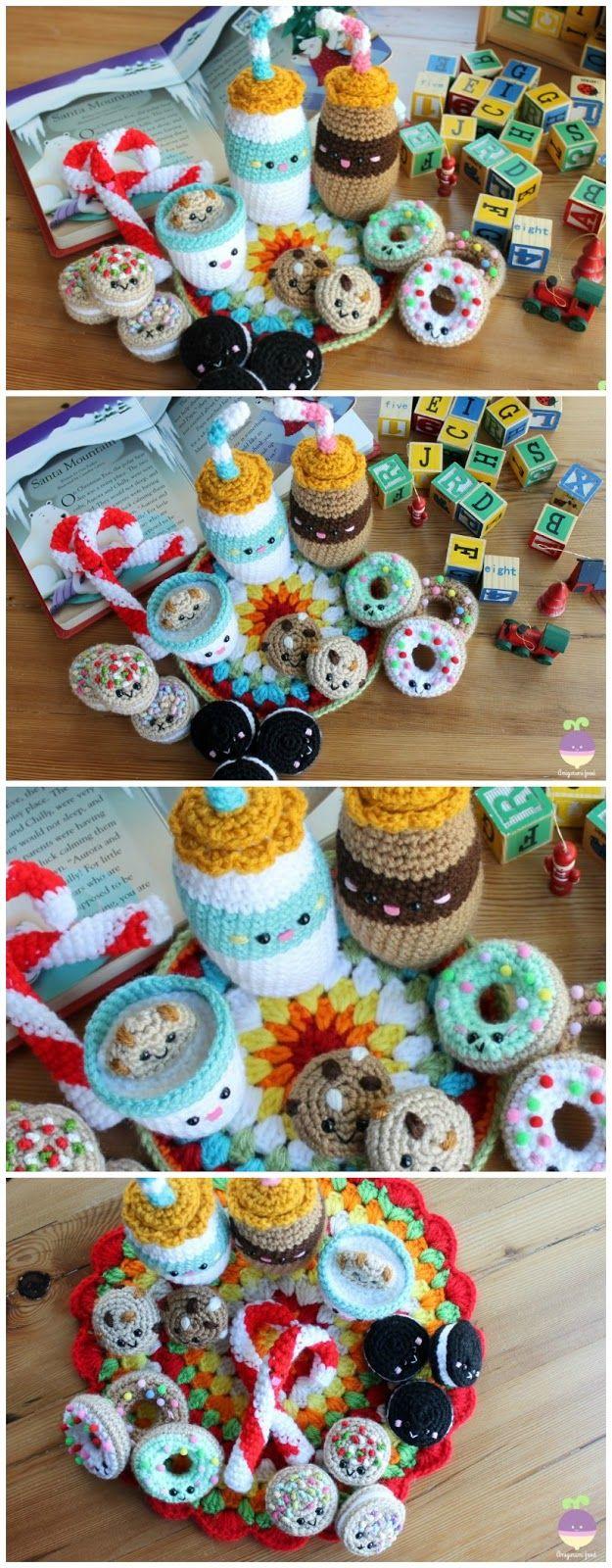 Milk and cookies for santa new crochet pattern by amigurumi food food bankloansurffo Choice Image