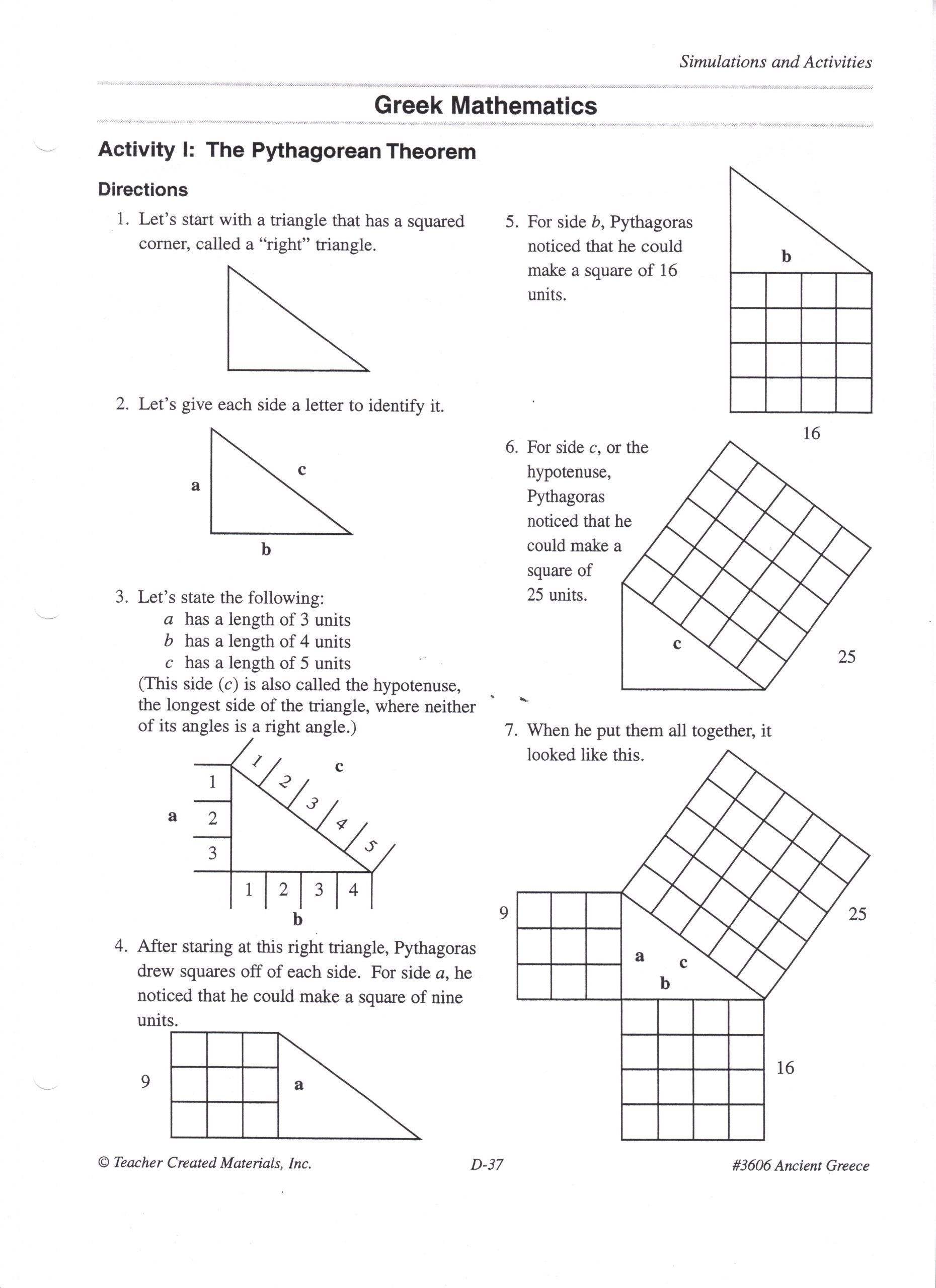 medium resolution of Pythagorean theorem Practice Worksheet Explanation Of why the Pythagorean  theorem Works   Pythagorean theorem