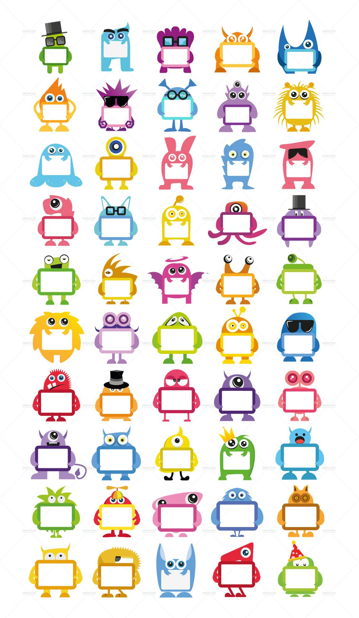 Monster Character Name Tags