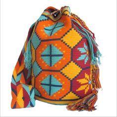 Authentic Handmade Wayuu Mochila Bag, wayuu bag, Sunset Dance Bag #Handmade…