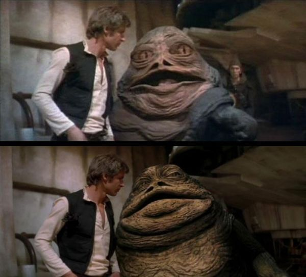 Videos Revealing Every Change Made To The Original Star Wars Trilogy Star Wars Trilogy The Hutt Jabba The Hutt