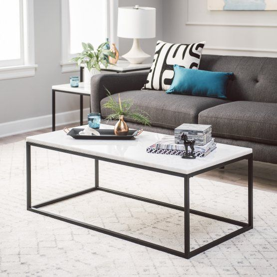 Belham Living Sorenson Coffee Table With Marble Top Nss Coffee