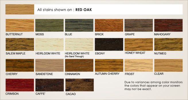 Red Oak Stains With Images Stain Cabinet Colors