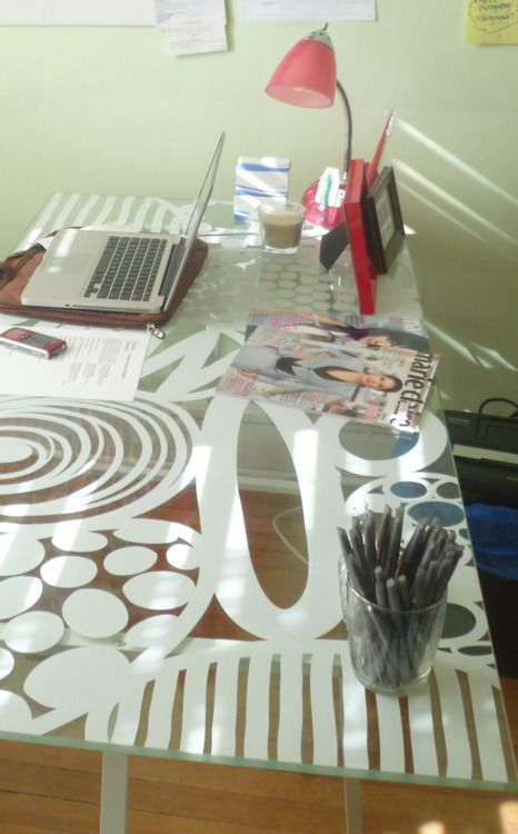 Love My Vika Glasholm Desk From Ikea Office Crafts Craft Room Office Home Decor