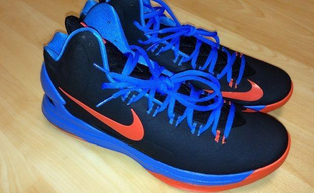 new product cf62f d74a7 Nike KD 5 Black Photo Blue Team Orange 554988 048 half off