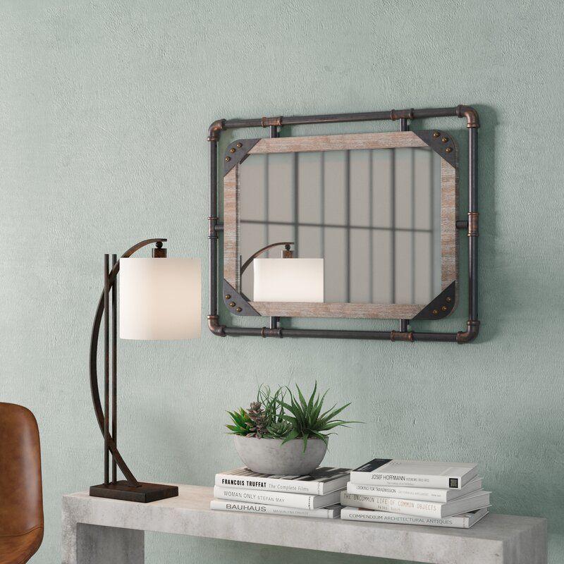 Trent Austin Design Capri Industrial Beveled Distressed Accent Mirror Reviews Wayfair In 2020 Mirror Accent Mirrors Distressed Bathroom Vanity