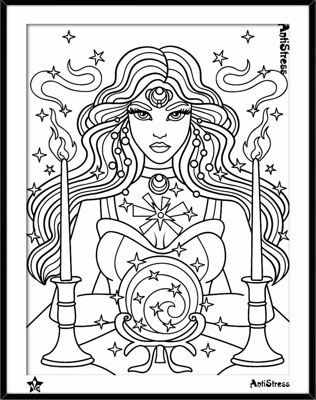 Gypsy coloring page | Stress Illustration Drawings | Pinterest ...