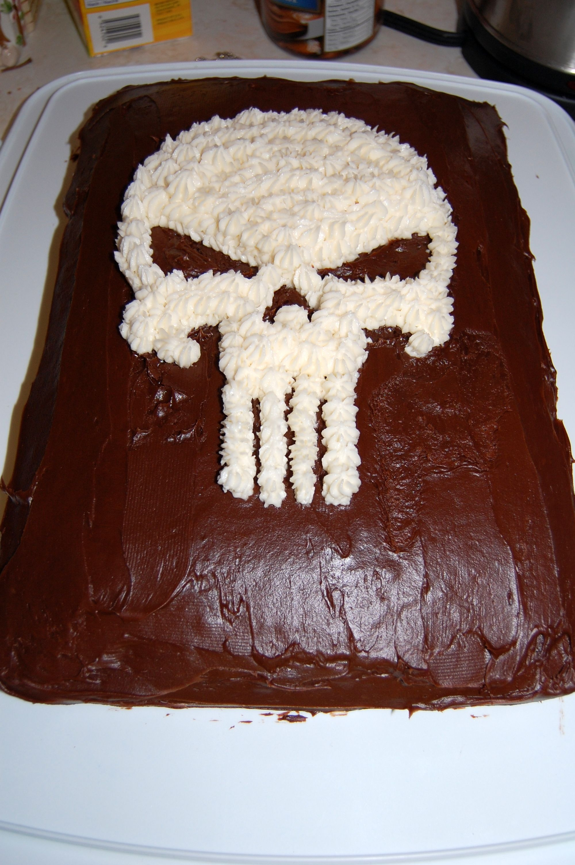 Birthday Cake Picture For My Brother : punisher birthday cake for my brother Things I ve Made ...