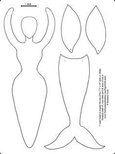 Sirena  Munequeria    Mermaid Tails Mermaid And Template