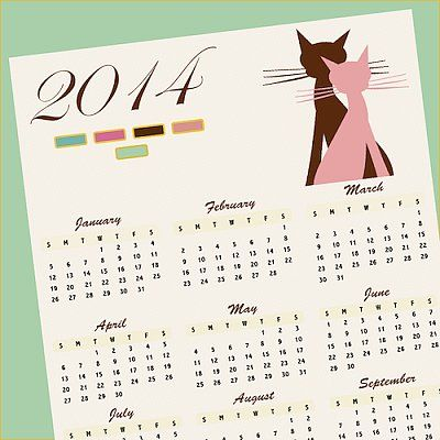 28 Free and Chic 2014 Calendar Printables: Why buy a calendar when you can score a beautifully designed one for free?