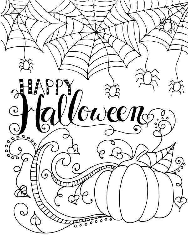 halloween coloring pages for kids free printables halloween coloring adult coloring and doodles - Halloween Drawings For Kids