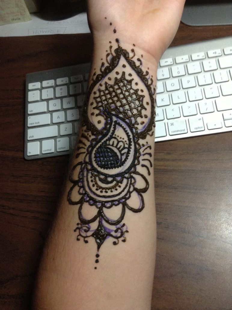 Henna arm tattoo by blackwaterpanther on deviantart for Henna tattoo arm designs
