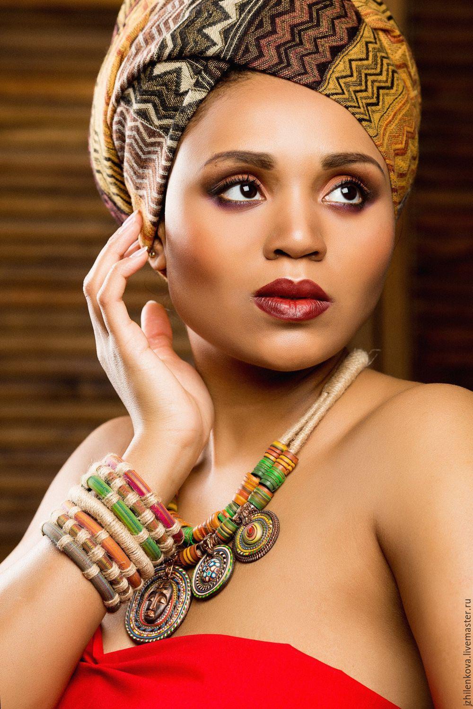"""Купить Колье """"Моя Африка"""" - колье, колье ручной работы, этно, этно стиль, африка"""