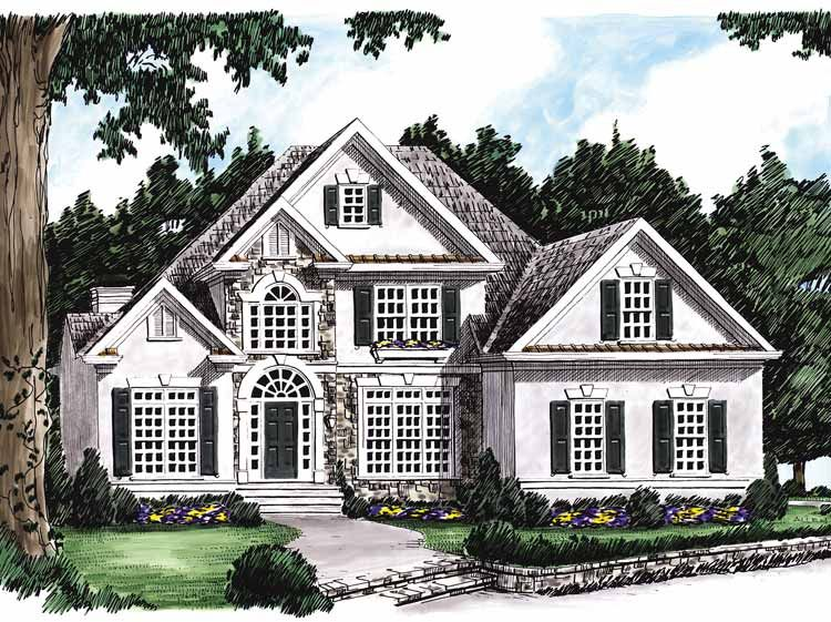Home Plans HOMEPW10535   2,425 Square Feet, 3 Bedroom 2 Bathroom New  American Home With Great Ideas