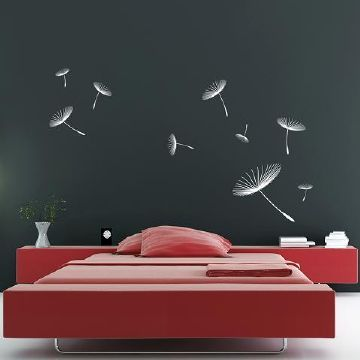 Floating dandelions wall sticker very unusual wall stickers available sizes 1 x h41cm