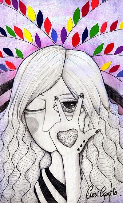 Cari Carito Ilustraciones Ilustracion Tecnica Mixta Art Female Sketch